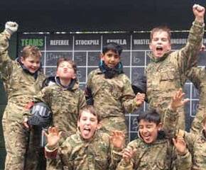 Teenagers Paintball
